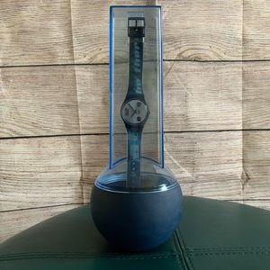 Vintage Swatch The Club Watch and Holder